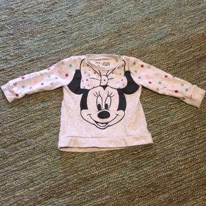 Minnie Mouse polka dot soft pullover sweatshirt